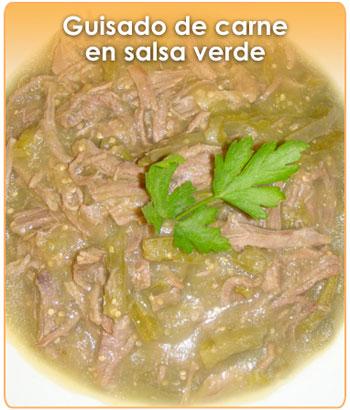 Receta de guisado de carne en salsa verde - Guarniciones para carne en salsa ...