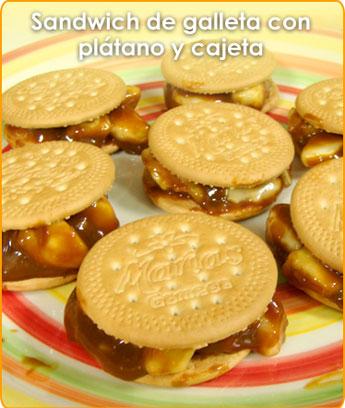 Deliciosas recetas para niños - SANDWICH DE GALLETA CON ...