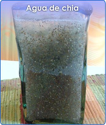 Receta para pteparar agua de chia