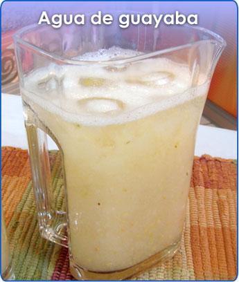 Receta para pteparar agua de guayaba