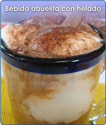 Receta para pteparar bebida abuelita con helado