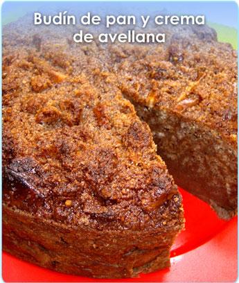 BUDIN DE PAN Y CREMA DE AVELLANA