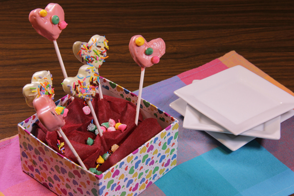 cake pops de corazón