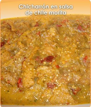 CHICHARR�N EN SALSA DE CHILE MORITA