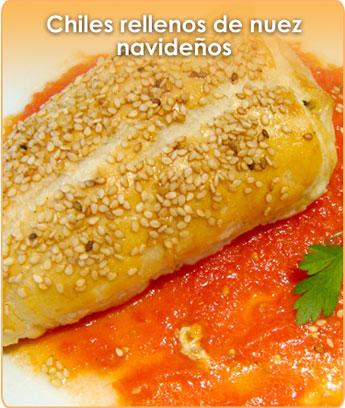 CHILES RELLENOS DE NUEZ, NAVIDE�OS