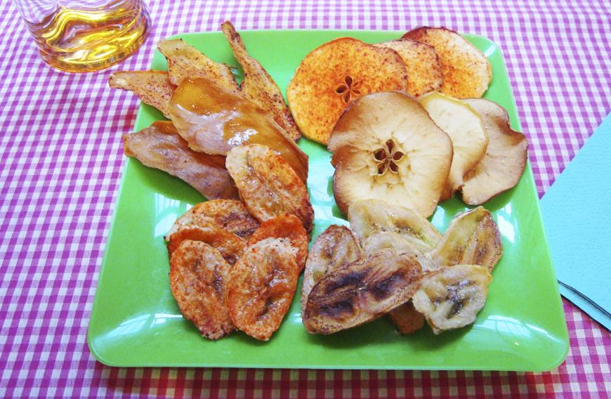 chips de frutas