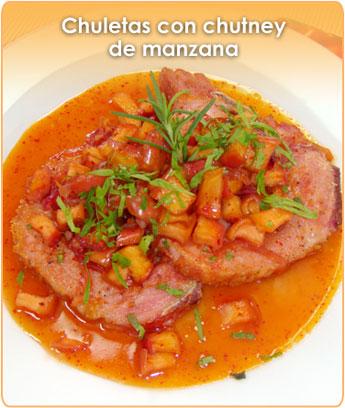 CHULETAS CON CHUTNEY DE MANZANA
