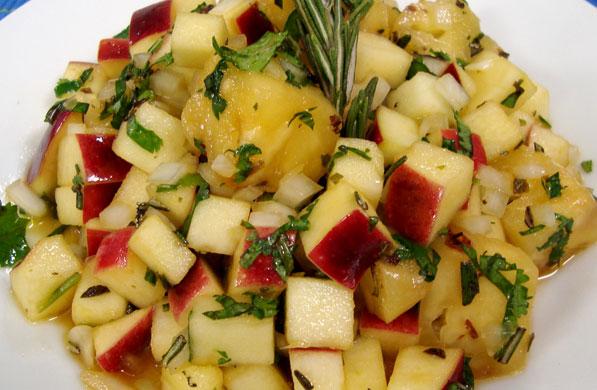 ensalada de manzana a las hierbas
