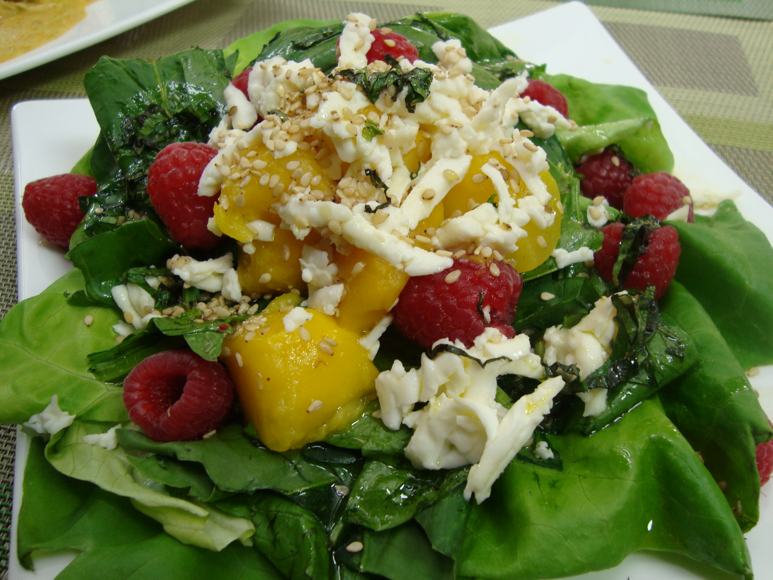 Receta para pteparar ensalada fresca