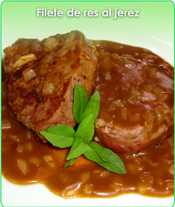 filete de res al jerez