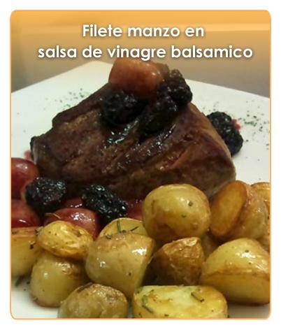 FILETE MANZO EN SALSA DE VINAGRE BALS�MICO