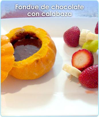 FONDUE DE CHOCOLATE CON CALABAZA