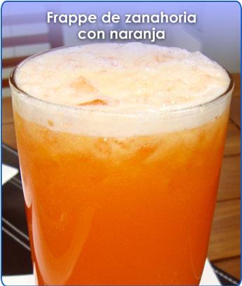 Receta para pteparar frappe de zanahoria con naranja