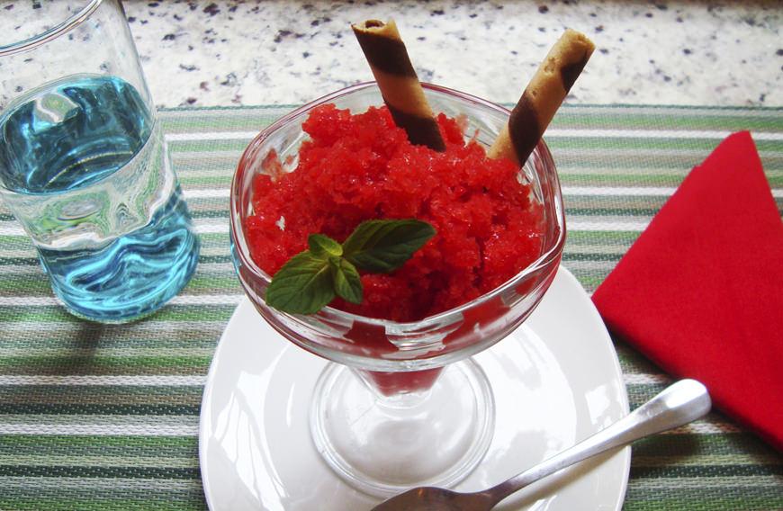 granizado de fresa sin azúcar