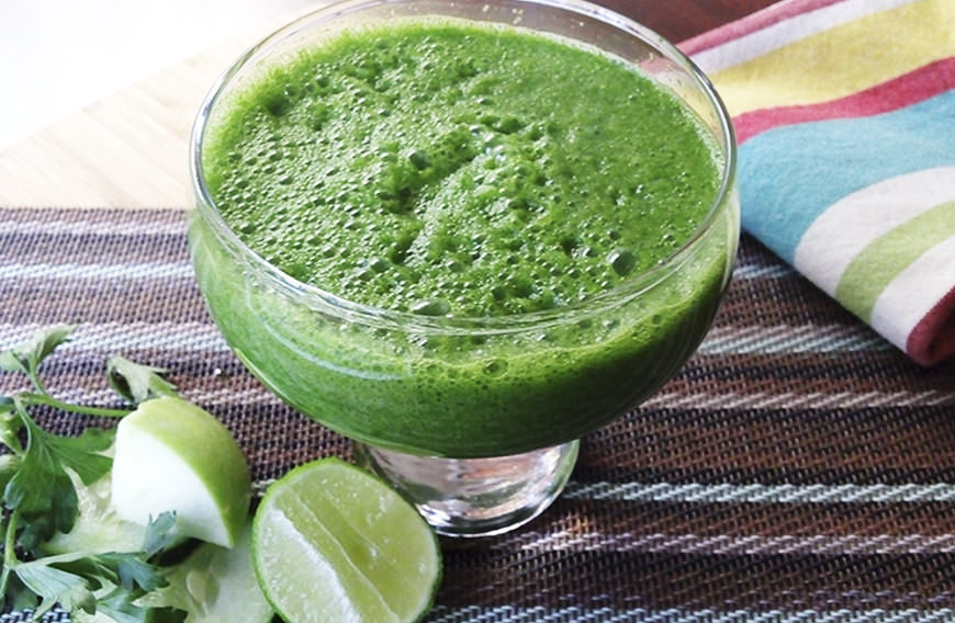Receta para pteparar jugo verde detox, depurativo y antioxidante