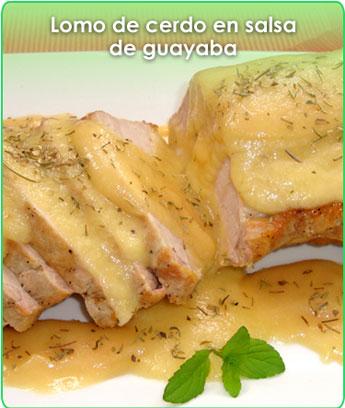 lomo de cerdo en salsa de guayaba