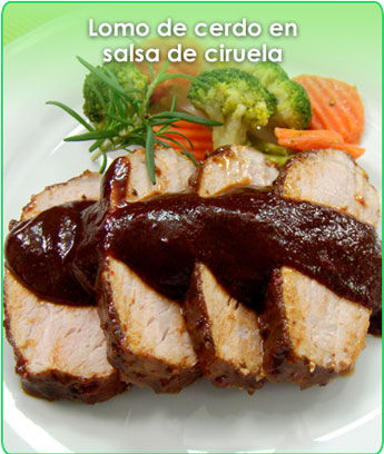 LOMO EN SALSA DE CIRUELA