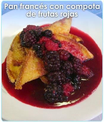 PAN FRANCES CON COMPOTA DE FRUTAS ROJAS