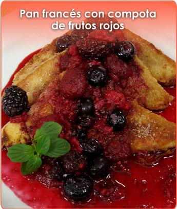 pan francÉs con compota de frutos rojos