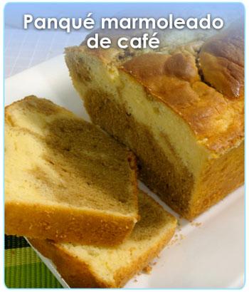 PANQUE MARMOLEADO DE CAFE