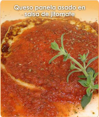 Cómo preparar QUESO PANELA ASADO EN SALSA DE JITOMATE
