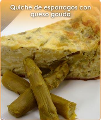 QUICHE DE ESP�RRAGOS CON QUESO GOUDA