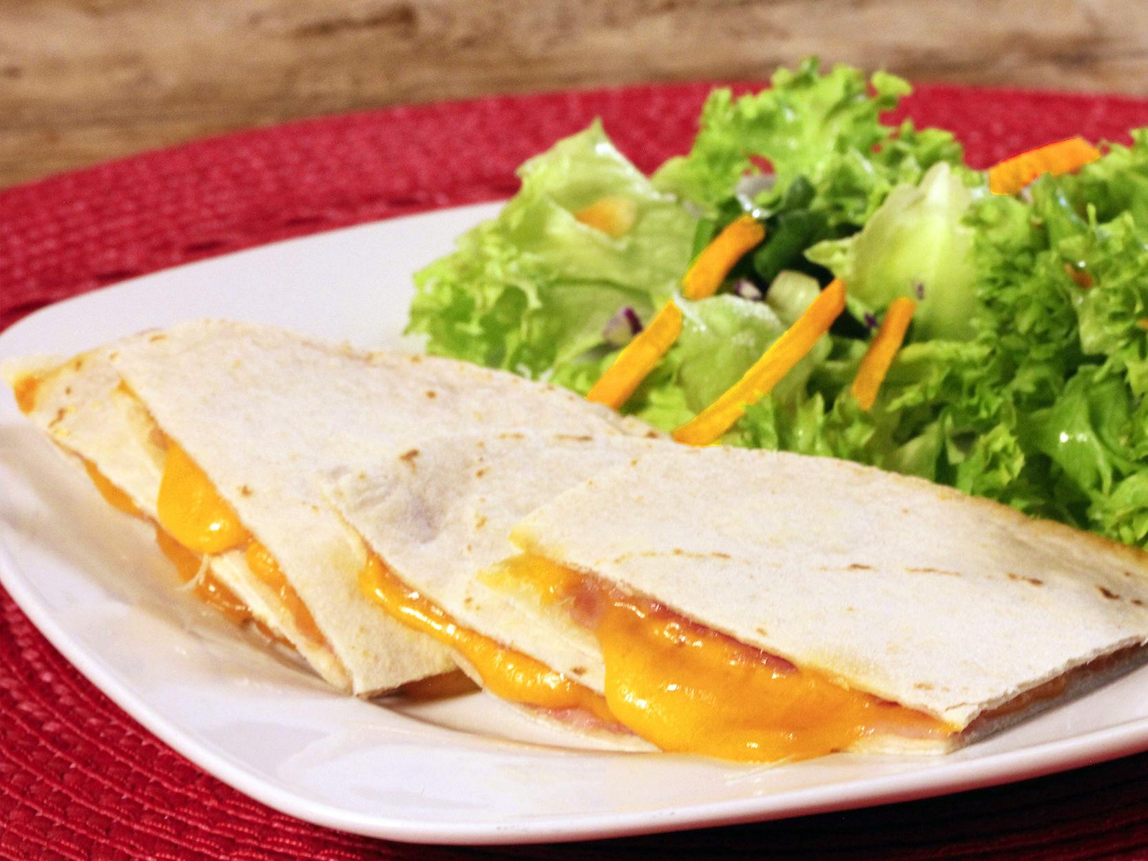 sincronizadas de jamón y queso cheddar