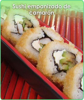 sushi empanizado de camarÓn