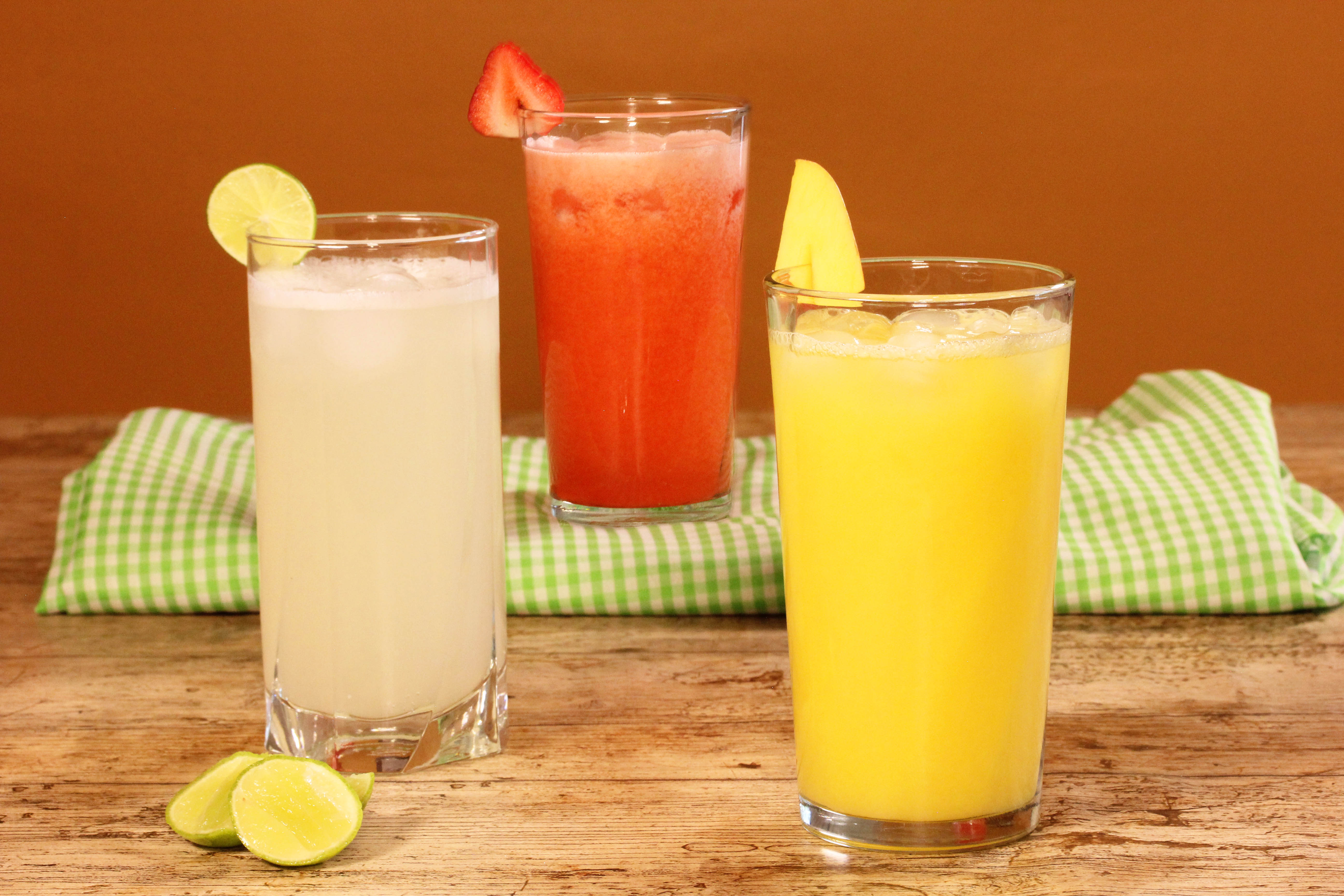 Receta para pteparar trío de limonadas