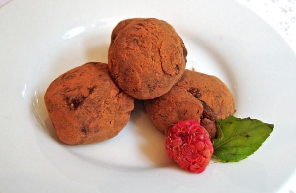 TRUFAS DE CHOCOLATE CON MIEL